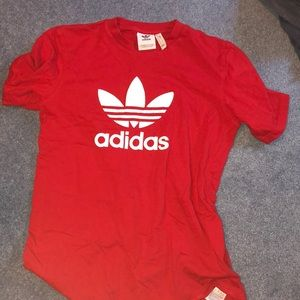 Adidas Red Logo Tee Shirt